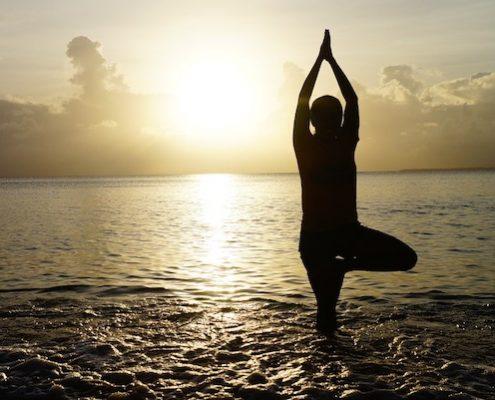 yoga op het strand comfortsports.nl